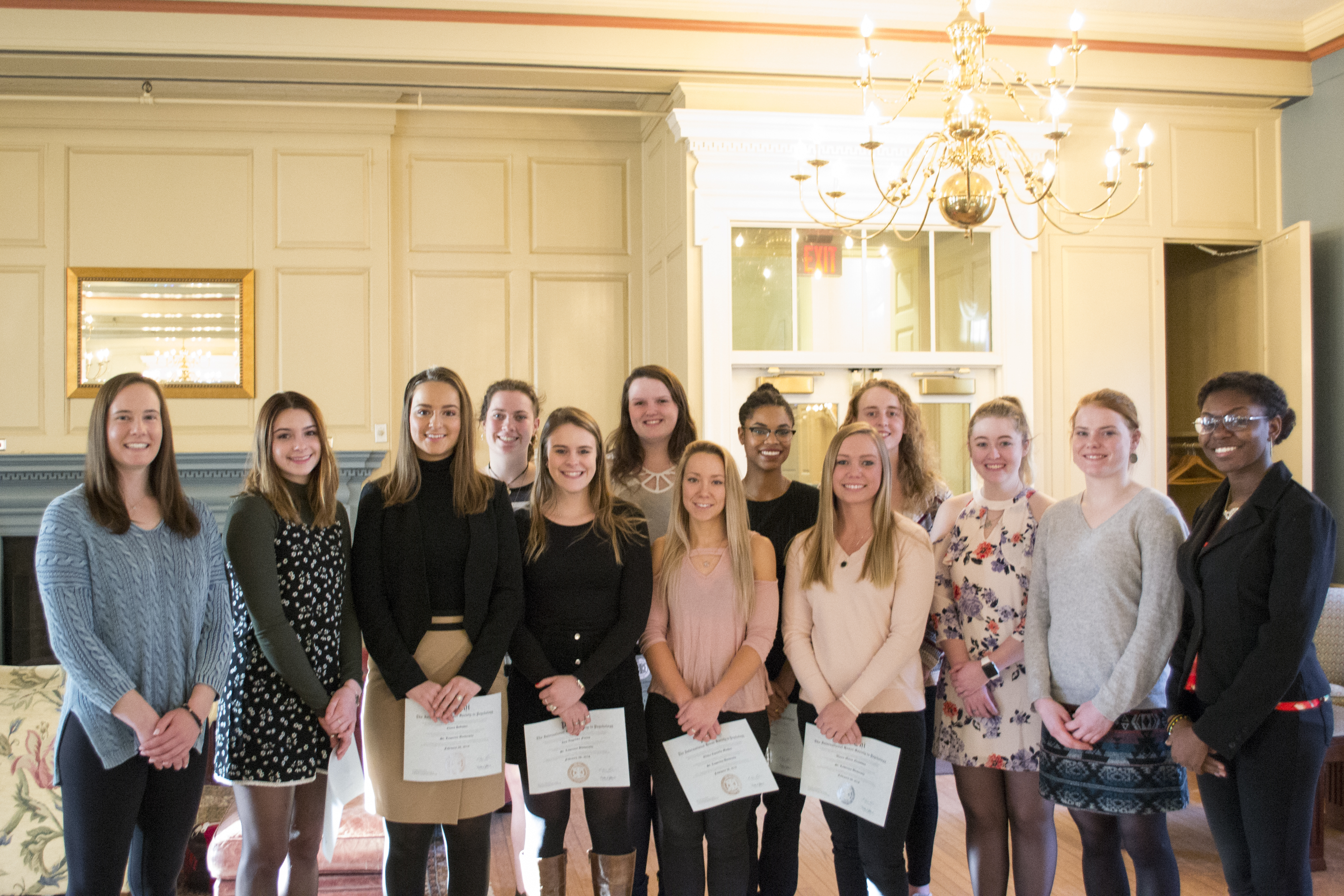 2018 spring psi chi inductees