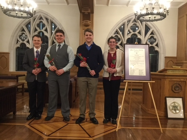 Phi alpha theta photo of initiates