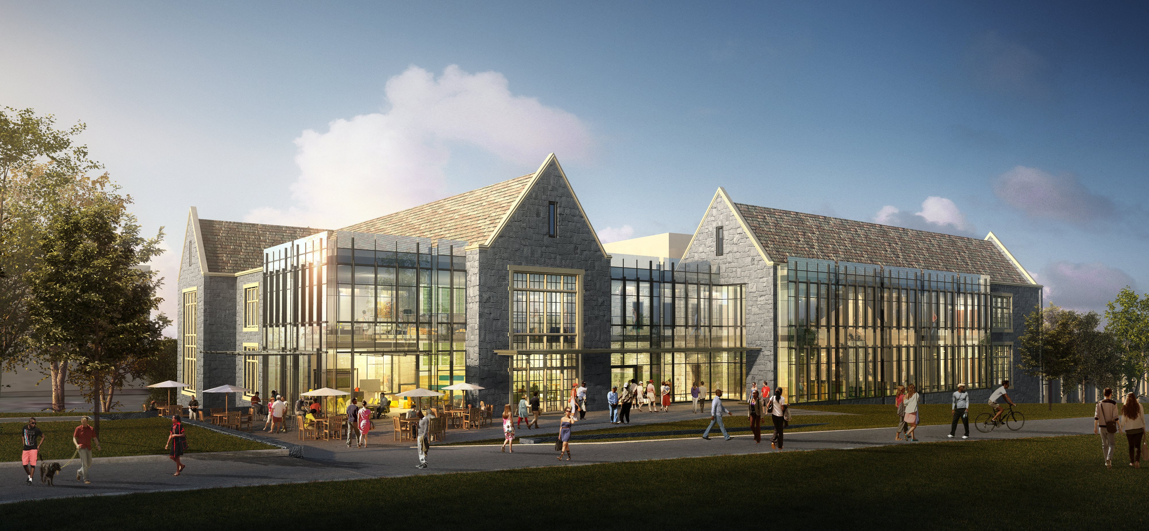 Cousins center for science and innovation 1 exterior rendering
