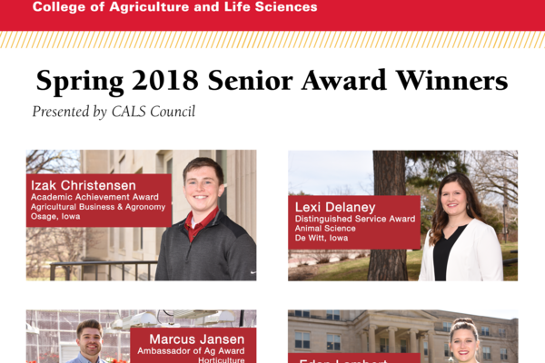 Spring 2018 council senior awards