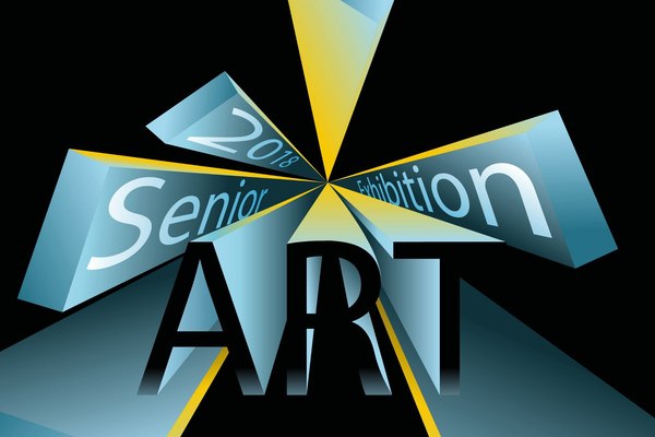 Senior art exhibition flyer