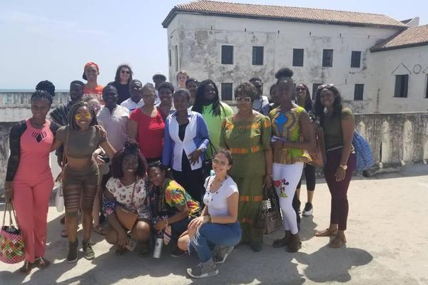 Ghana trip students elmina castle