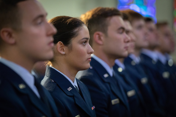 Newest air force officers commissioned at the citadel