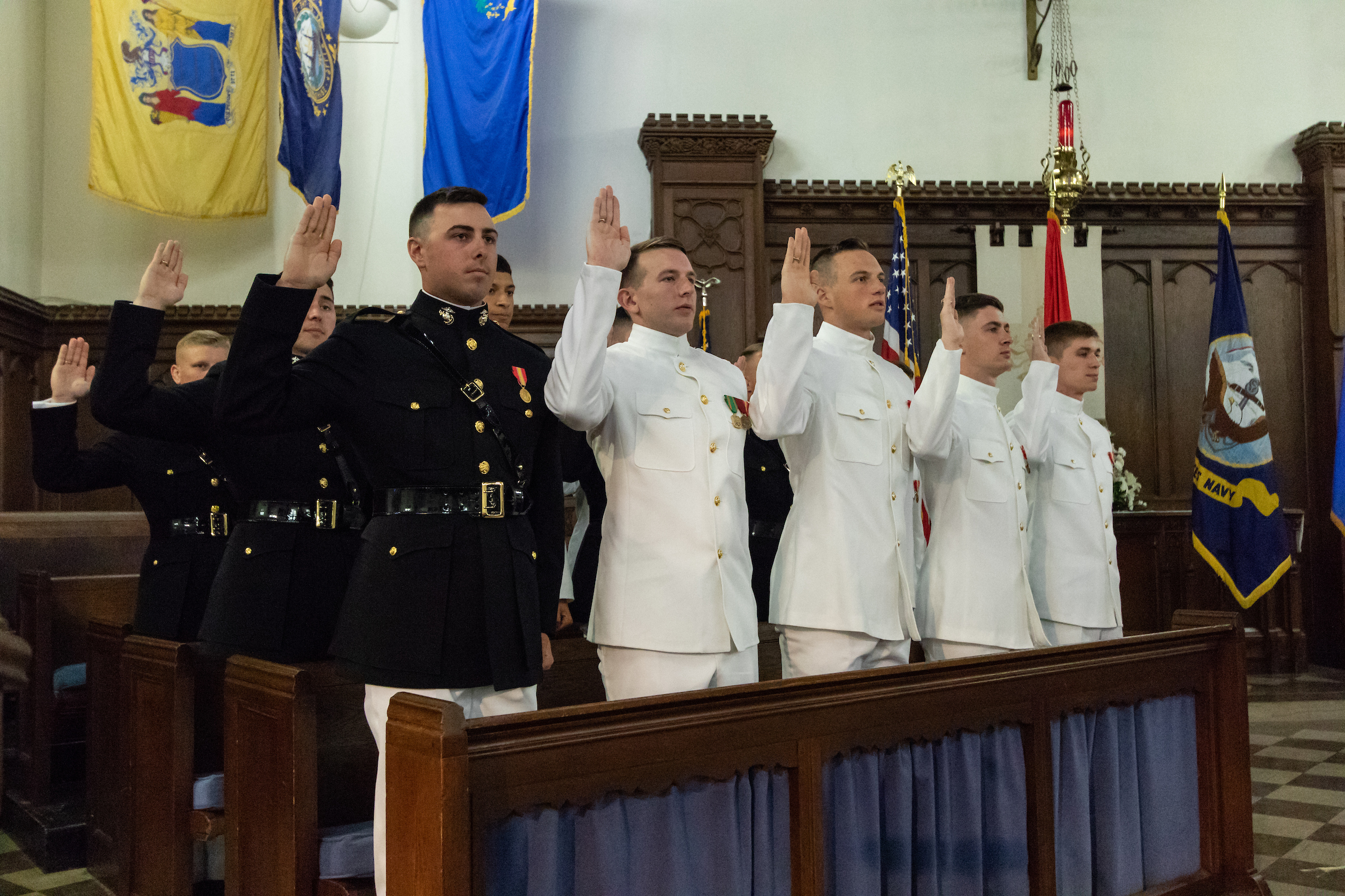 Newest marine corps officers take commissioning oath