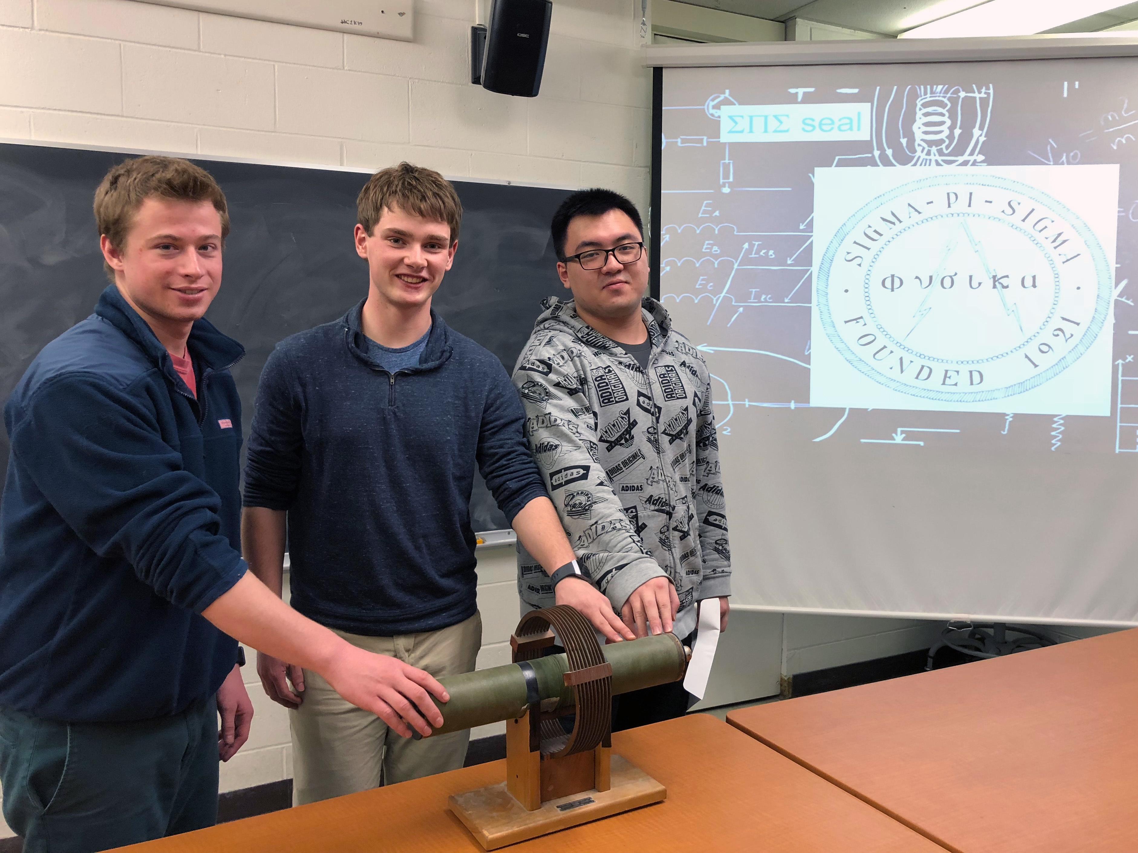 2017 2018 spring sigma pi sgma physics honorary society