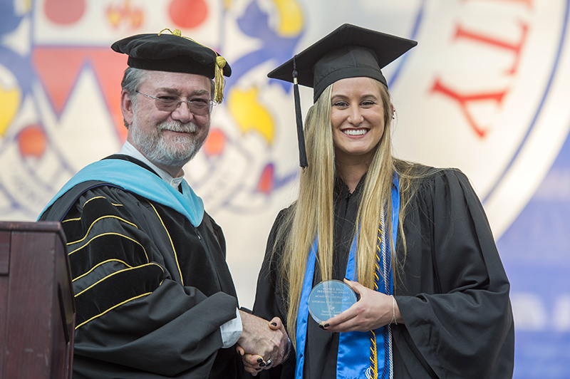 Sarah agnew trotter award spring commencement