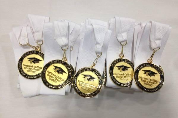 Mortar board medallions