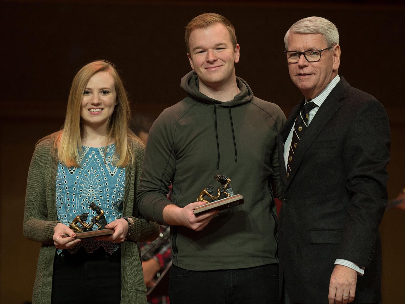 Olivet students 2018 servant leadership awards web