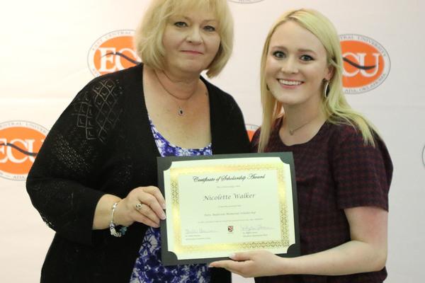 Nicolette walker   2 scholarship awards