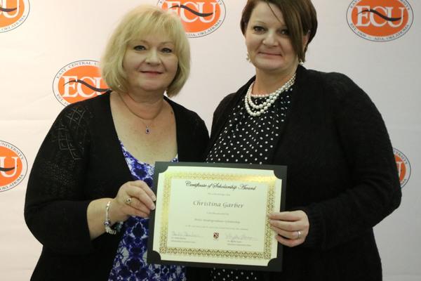 Christina garber   2 scholarships