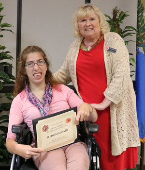Allison leonard   clayton morgan rehab leadership award