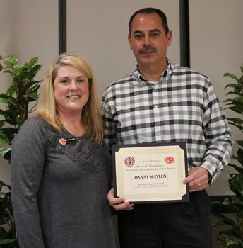 Danny maylen   richard baumgartner outstanding rehab grad student