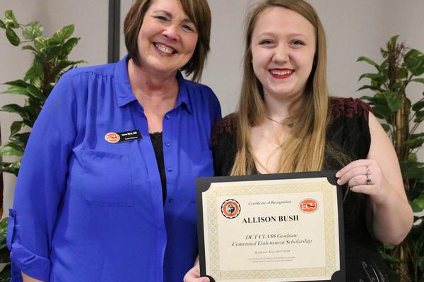 Allison bush   dct grad scholarship