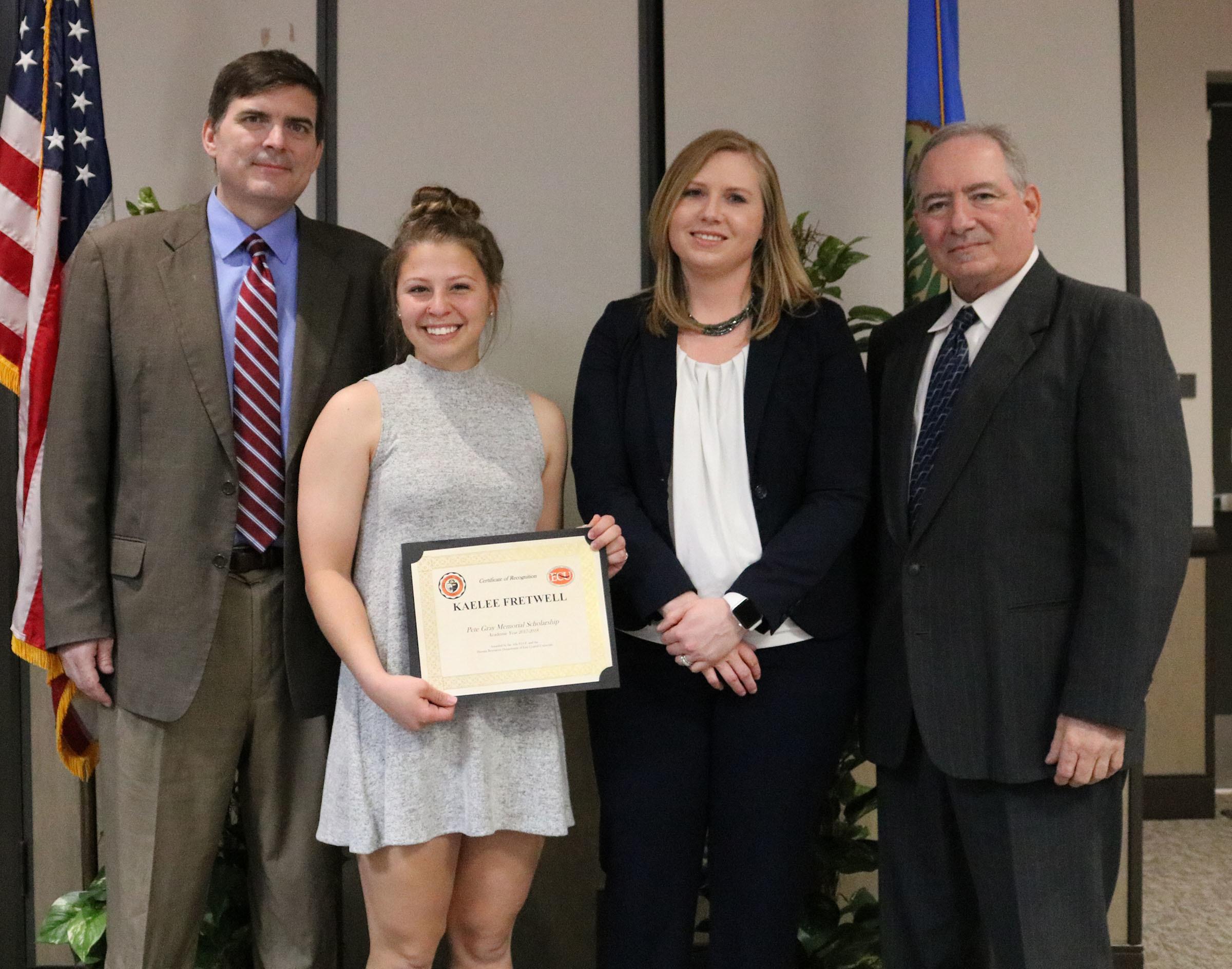 Kaelee fretwell   2 scholarships