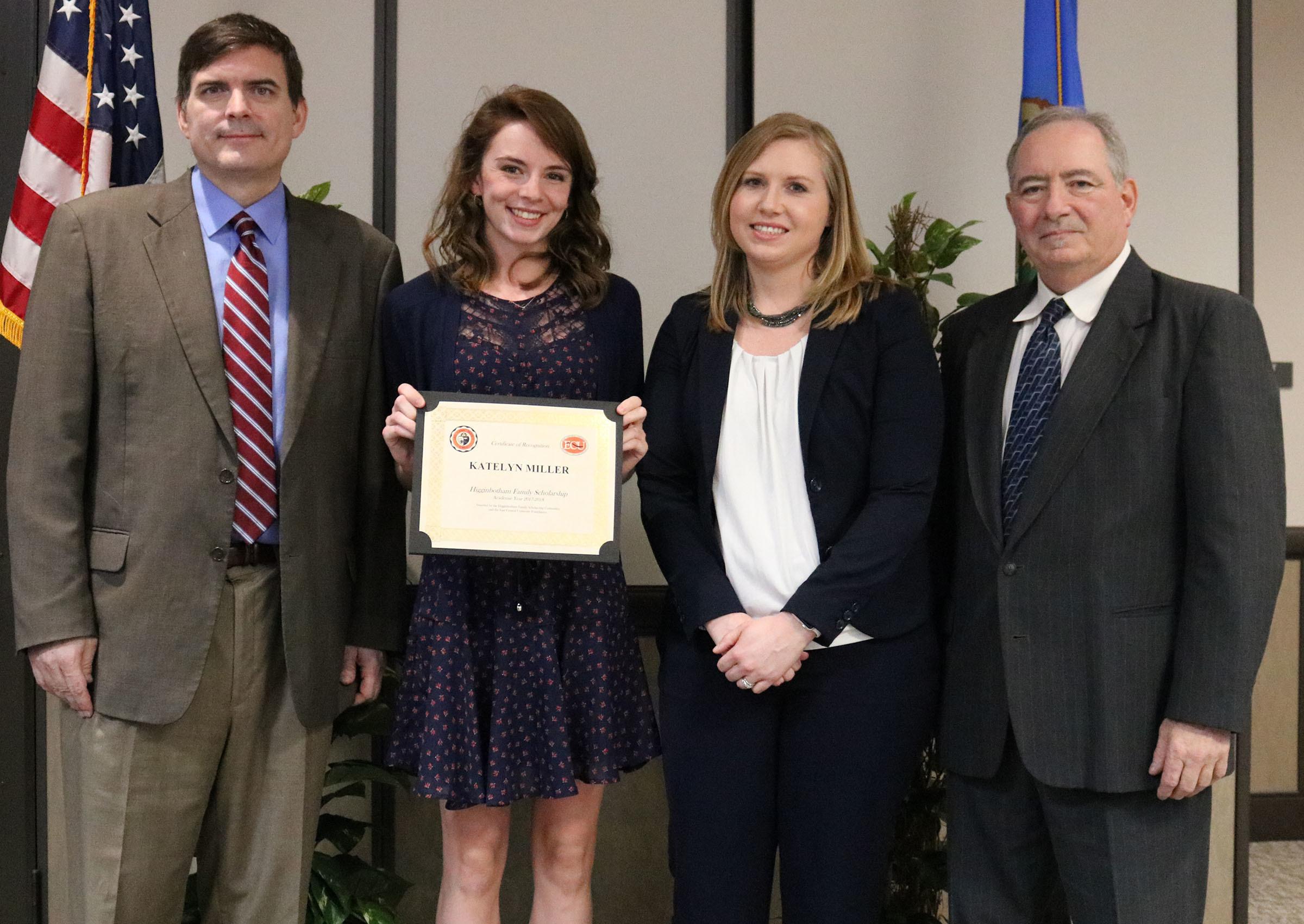 Katelyn miller   higginbotham criminal justice scholarship