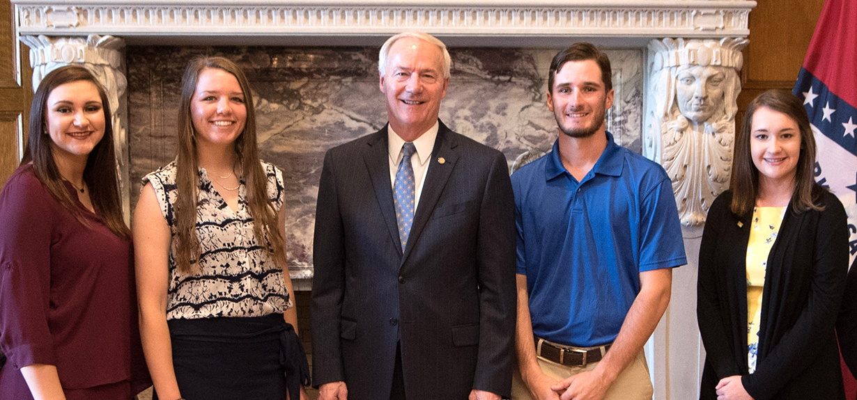 Sau agri scholarships with gov hutchinson