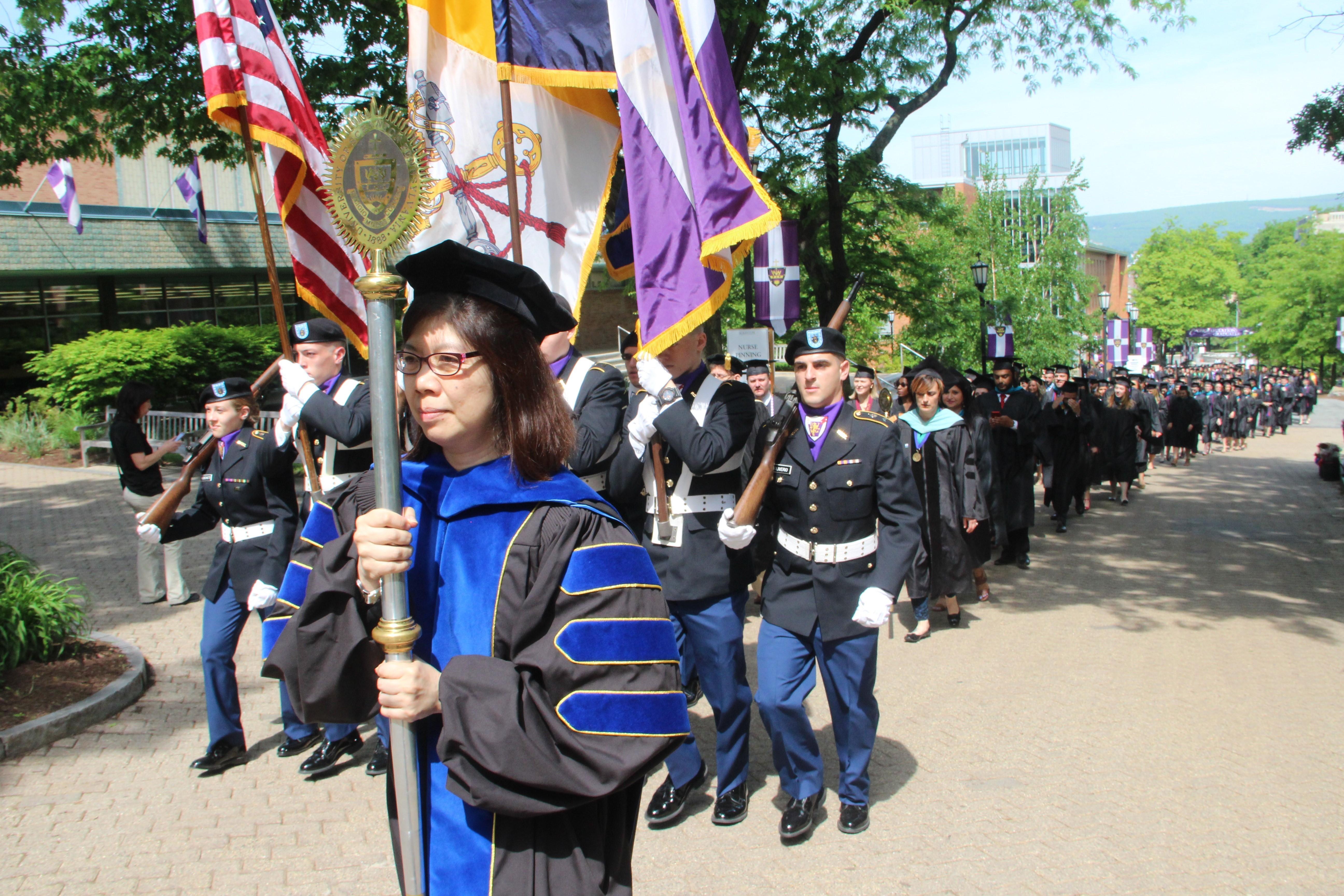 Graduate commencement photo