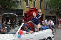 Sga president in the parade