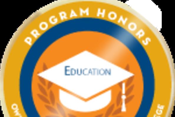 Badge honors education