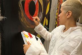 Alarcon w painting