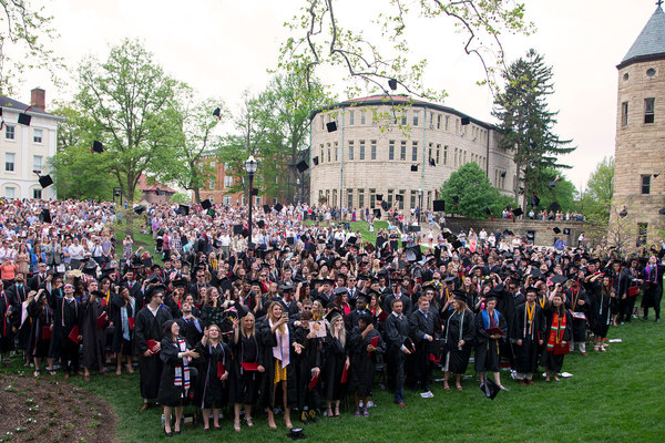 Ohio wesleyan university 2018 commencement photo by paul vernon