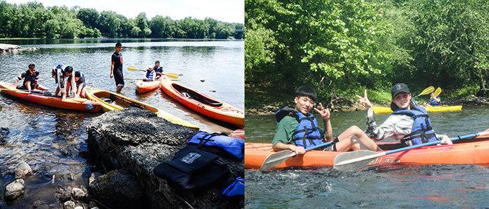 Chinese summer program kayak trip