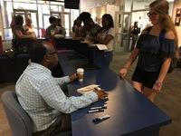 Book signing freshman convo