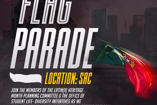 Latinx flag parade flyer