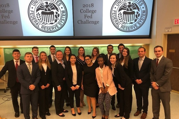 Fed challenge students of suny oneonta