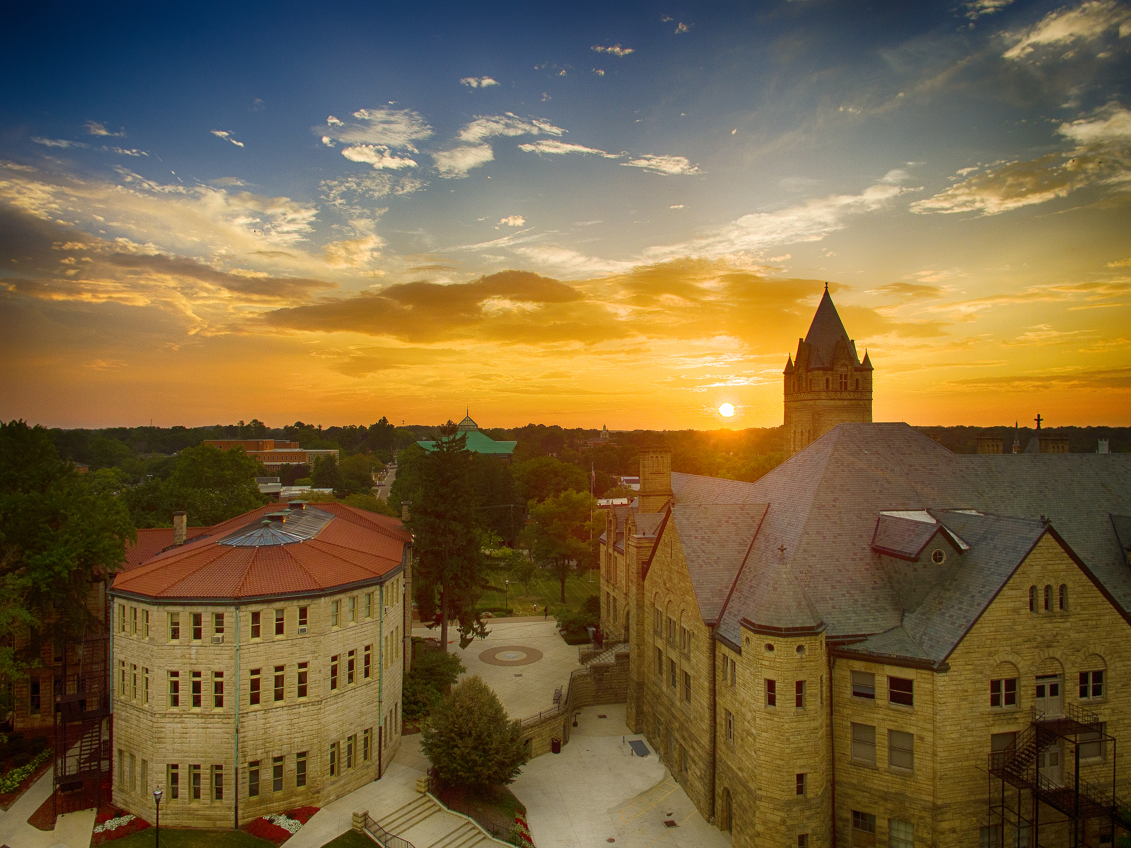 Owu sunset by brian rellinger