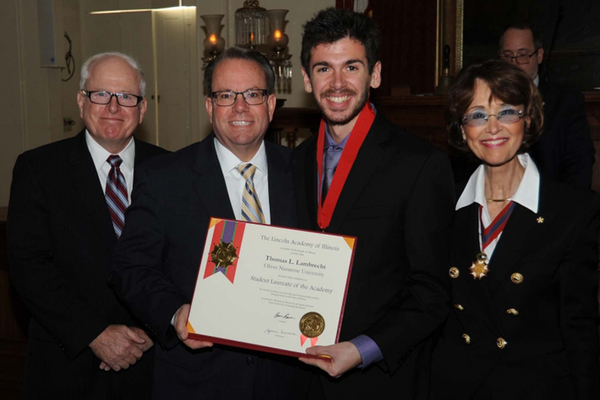 Olivet student tommy lambrecht 2018 student laureate lincoln academy of illinois web