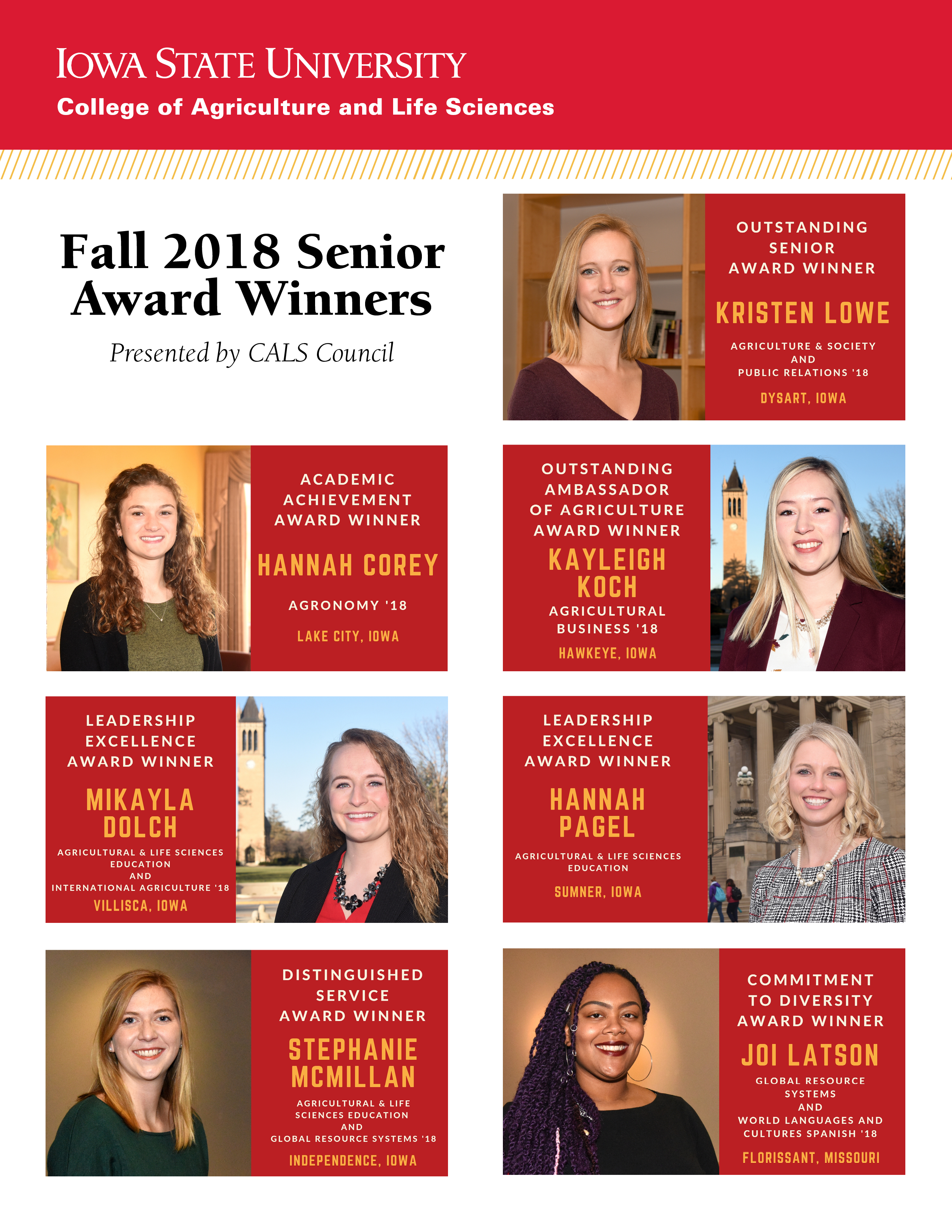 Fall 2018 council senior awards