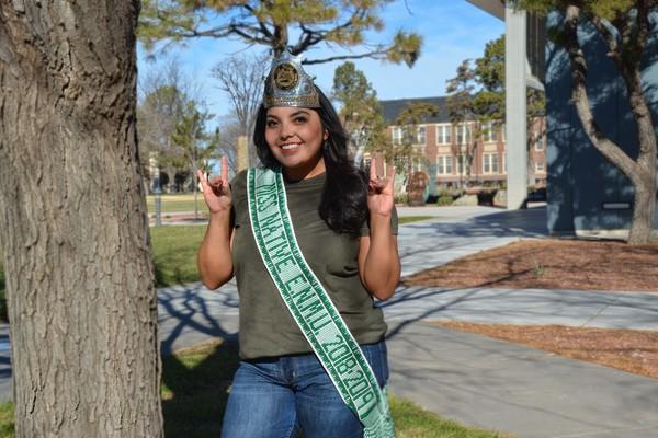 Vivian lueras with sash and crown