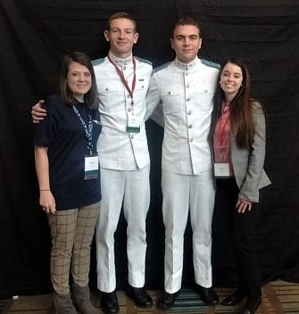 Citadel cadets and students at sna convention