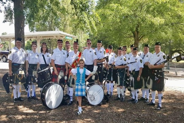 Aiken pipes and drums