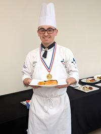 Suny delhi student chef dan hess with his winning dish