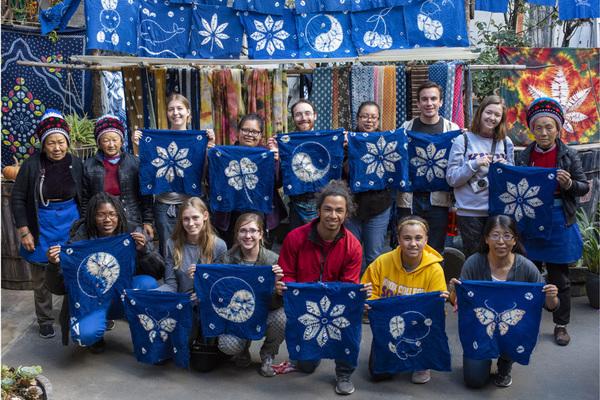 Group photo tie dye