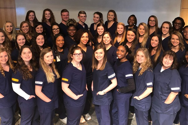 Junior nursing students