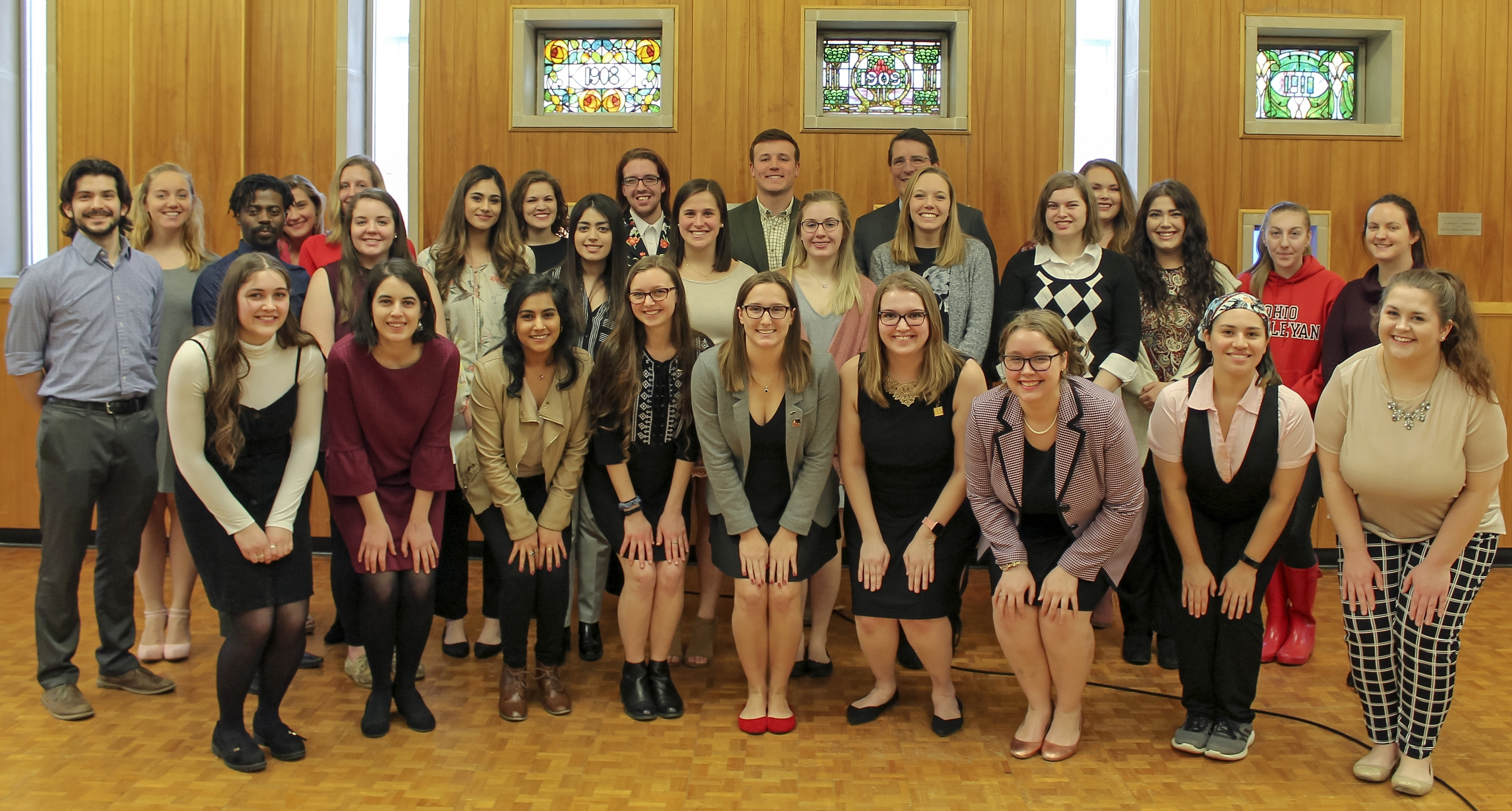 2019 ohio wesleyan mortar board members photo by hannah wargo 19