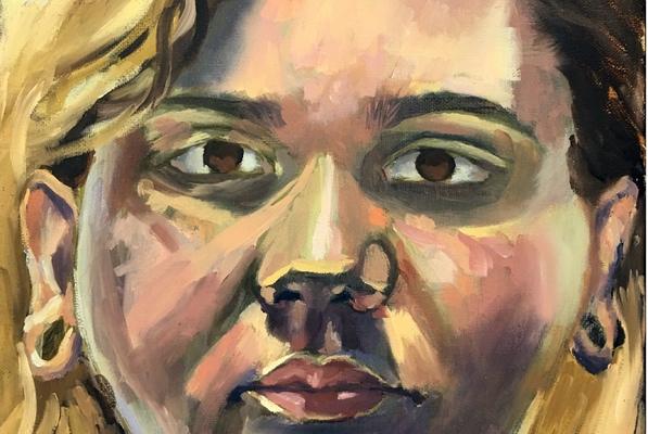 Maxine newton.oil on canvas