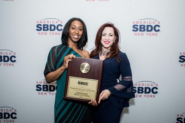 Latoya with sbdc advisor lizbeth rodriguez