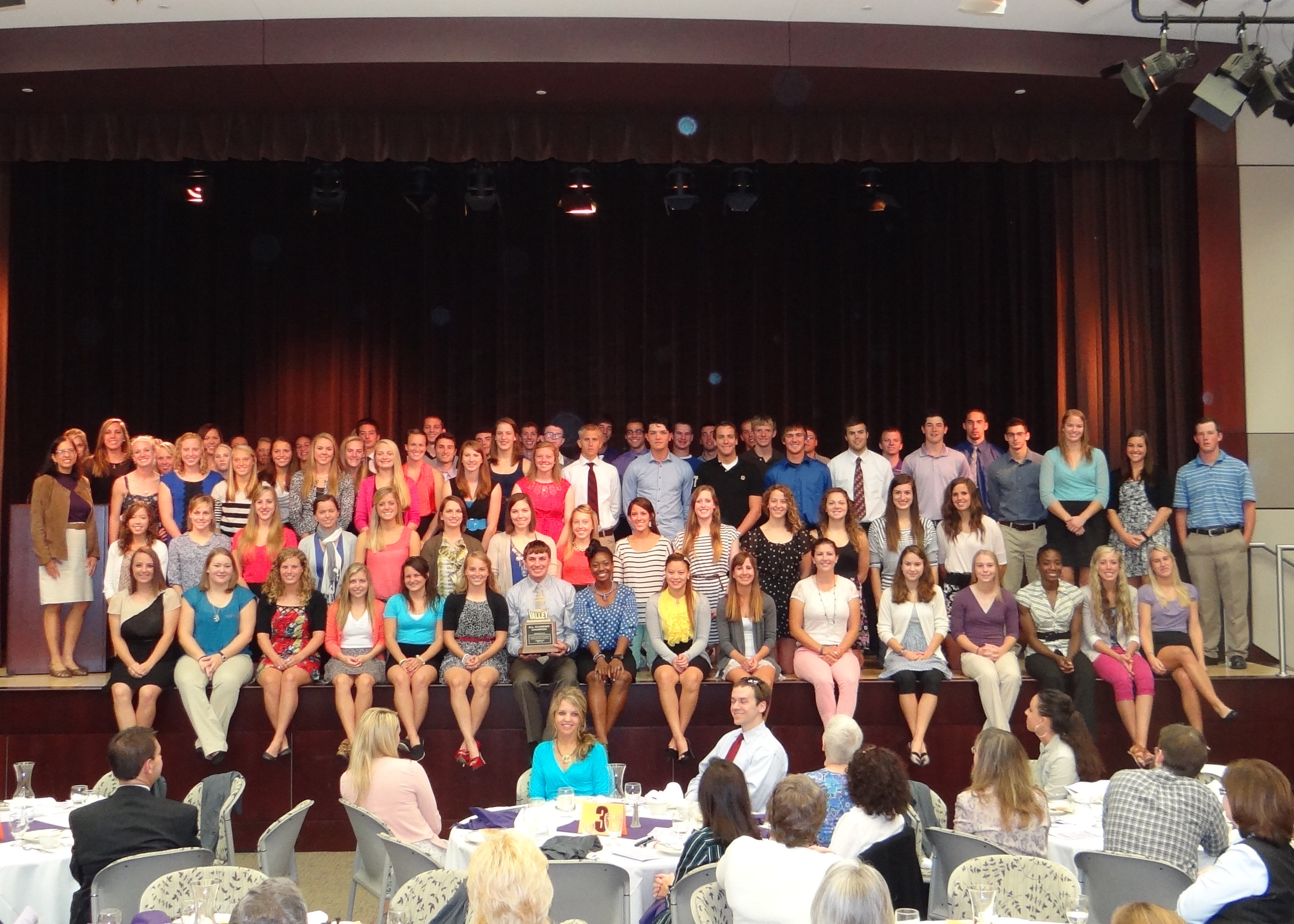 Student athlete group photo