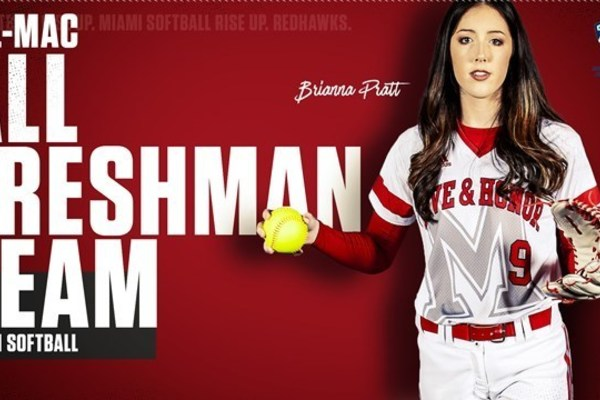 Miami university softball all mac all freshman