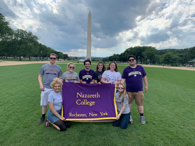 Music ed students at the national mall