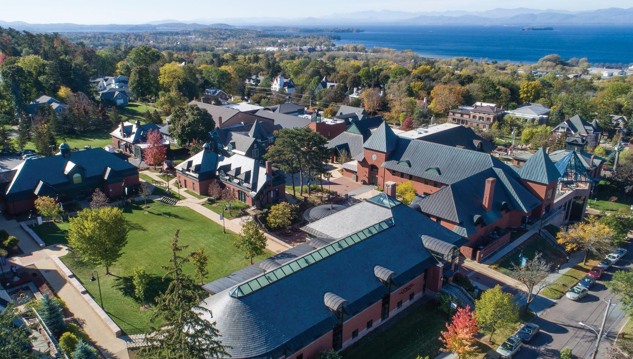 Champlaincollege aerialview