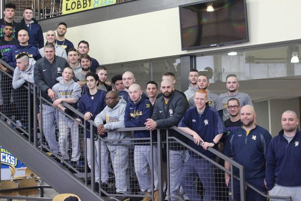 Baseball team bald for bucks spring 2019