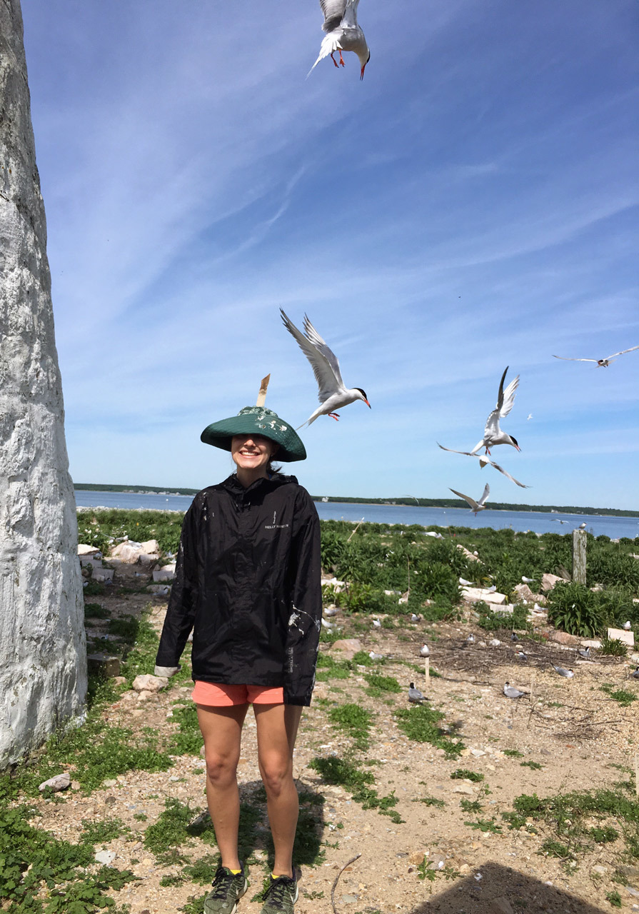 Racheal with birds