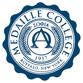 Medaille college seal blue