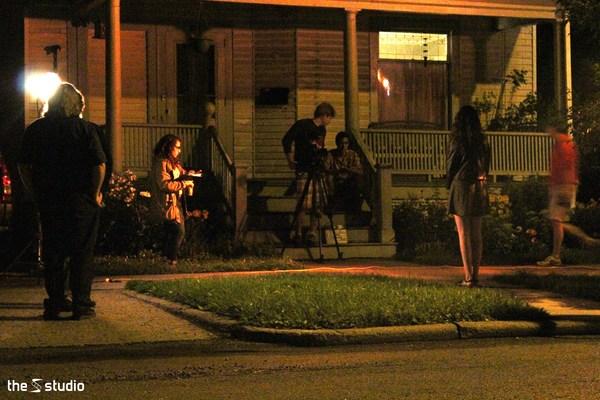 1413854667 elena deluccia  dan doran  and other students filming a scene of  22no fare 22