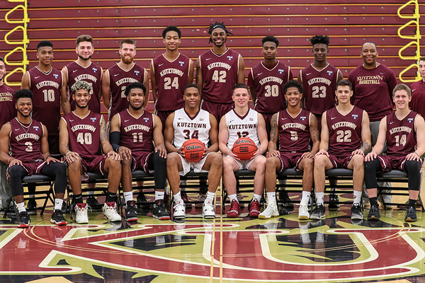 2019 20 kutztown university mens basketball team photo